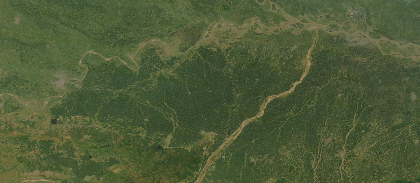 The Ganges plain in north India