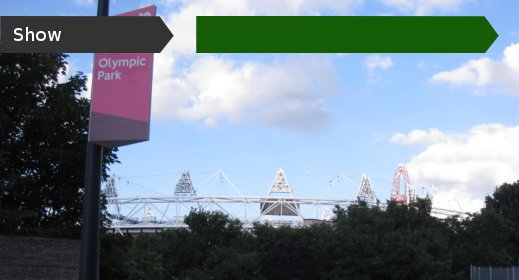 Olympic Stadium in park