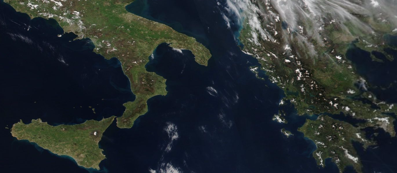 Magna Grecia from space