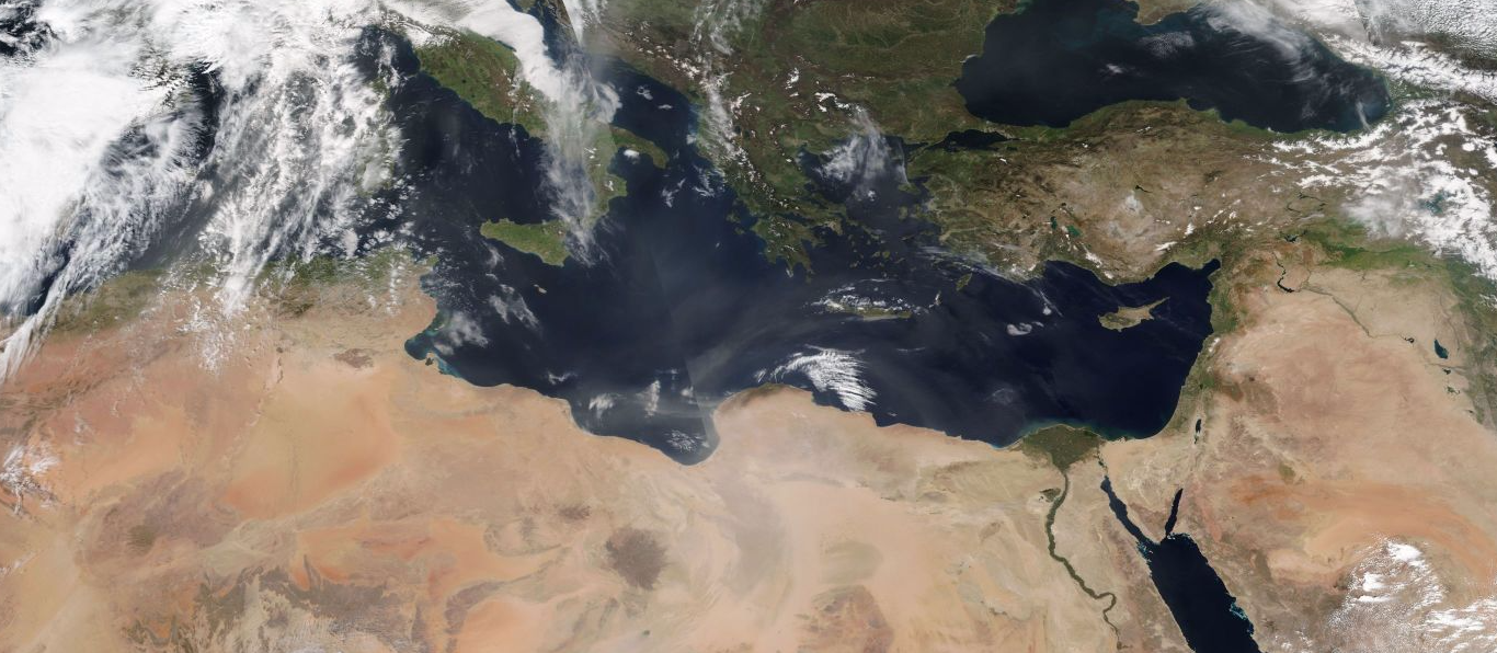 The eastern Mediterranean from space