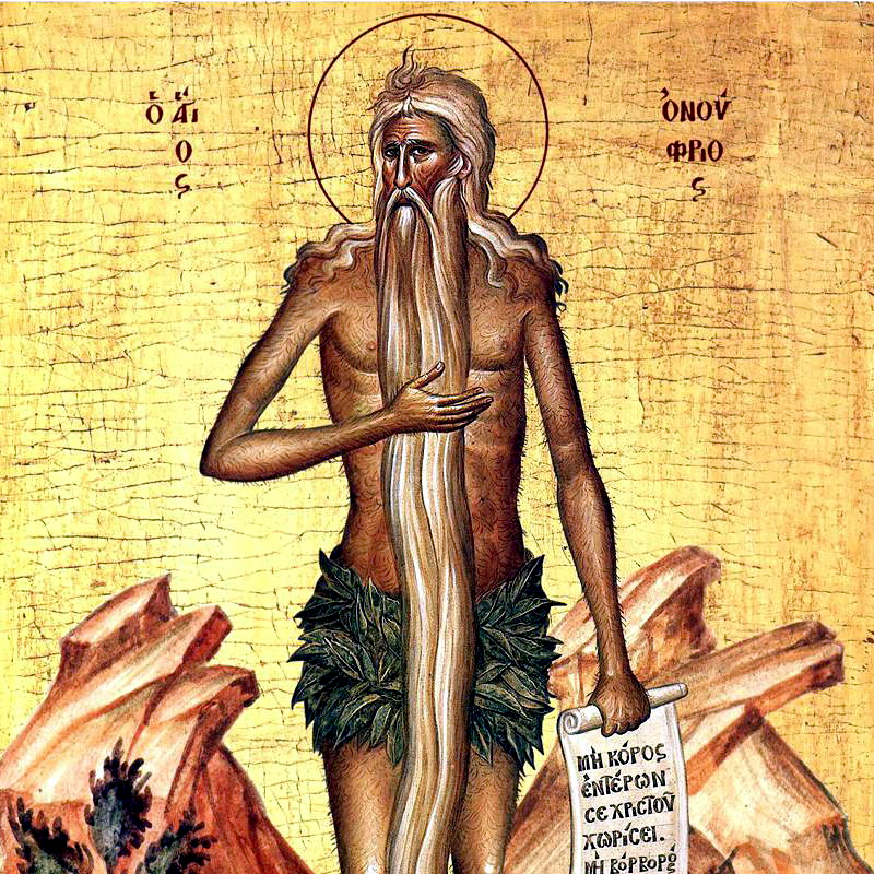 Icon of hirsuite naked man with halo