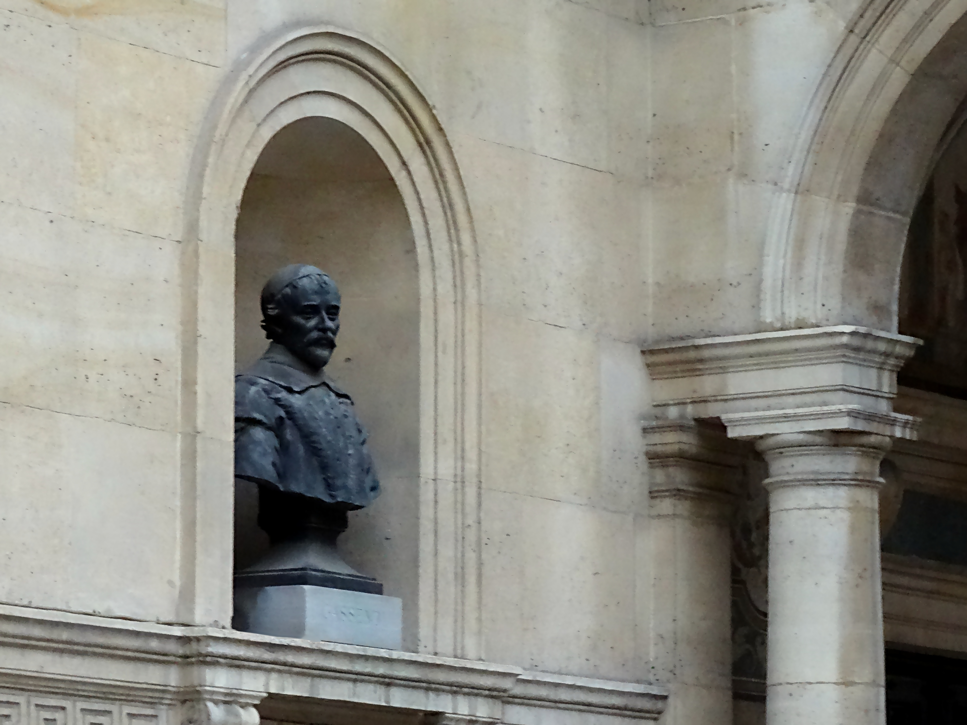 Bust of Fr Pierre Gassendi at the College de France