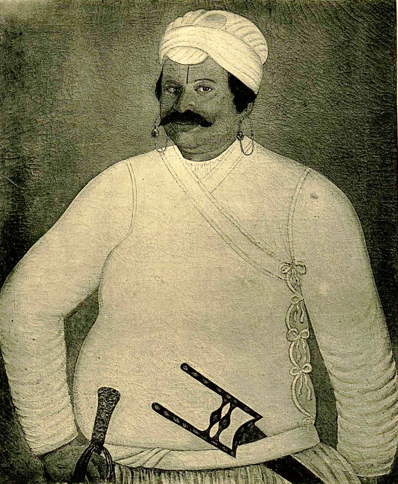 Man in Indian clothes with dagger