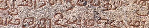 Old Tamil inscription (from Shaivite temple)